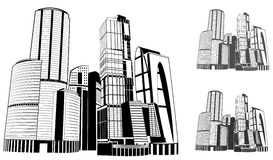 Big city the path in the vector Stock Photos