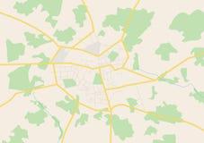 Big city - vector plan Royalty Free Stock Photo