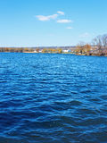 Big city reservoir at springtime Stock Photography