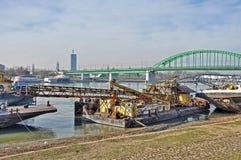 Big city river royalty free stock image