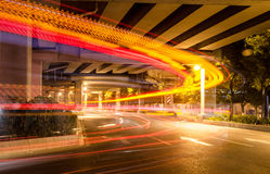 Big city road car lights at night Royalty Free Stock Photo