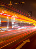 Big city road car lights at night Royalty Free Stock Photography