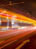 Big city road car lights at night Royalty Free Stock Photography