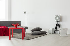 Big city's young single's living space Royalty Free Stock Images