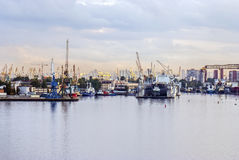 Big city sea port! Royalty Free Stock Photography