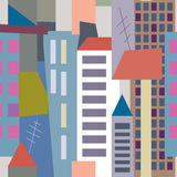 Big city seamless pattern Stock Image