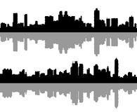 Big city silhouettes set 1 Stock Photography