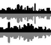 Big city silhouettes set 2 Stock Photo