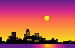 Big City Skyline. Vector illustration with modern buildings and skyscrapers Royalty Free Stock Photography