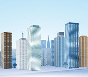 Big city with skyscrapers Royalty Free Stock Image