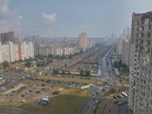 Big city. Street on the city Royalty Free Stock Image