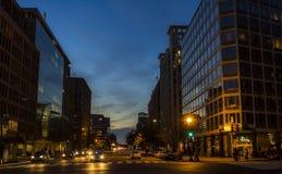 Big city street scene Stock Photo