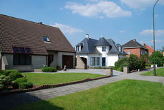 Big city suburbia. Houses of suburbia of Brussels Stock Photography