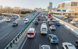 Big city traffic Royalty Free Stock Image
