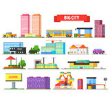 Big City Urban Icons Set Stock Photography