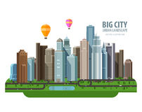 Big city vector logo design template. Construction Royalty Free Stock Photography