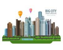 Big city vector logo design template. Construction Royalty Free Stock Photography