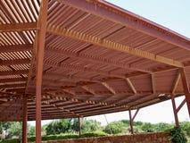 Big classical wooden pergola arbor Stock Photo