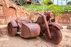 Big clay sculpture of motorcycle Royalty Free Stock Images