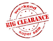 Big clearance. Rubber stamp with text big clearance inside, vector illustration Royalty Free Stock Photography