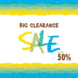Big clearance sale banner Royalty Free Stock Image