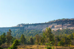 Big cliff. Big and High cliff  near the Mekong River Stock Photo