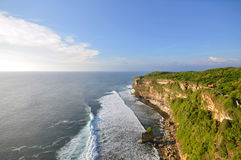 Big cliffs at Uluwatu, Bali Indonesia Royalty Free Stock Photography