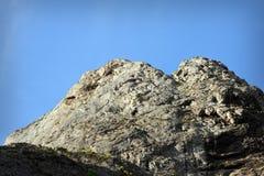 Big climbing limestone wall Stock Images