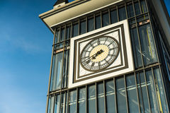Big clock and blue sky royalty free stock photography
