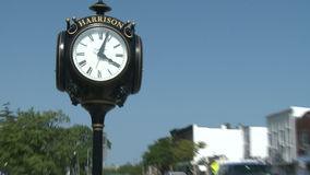 Big clock downtown (1 of 2) stock footage