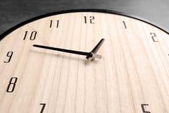 Big clock hanging on wall Royalty Free Stock Photos