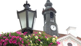 The big clock from the old city hall of Tartu Estonia GH4 4K stock footage