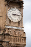 Big clock of Palermo Cathedral tower. Cattedrale di Vergine Assunta, Madre Chiesa, Sicily, Italy Stock Photo