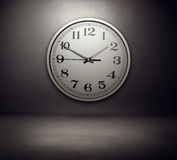 Big clock on the wall Royalty Free Stock Images