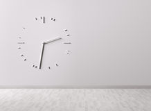 Big clock on the wall Royalty Free Stock Photos