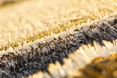 Big close up of snow or ice crystals Royalty Free Stock Images