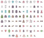 Big clothes set Stock Photos