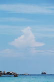 Big cloud in the blue sky Royalty Free Stock Image