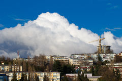 Big cloud over city Royalty Free Stock Photos