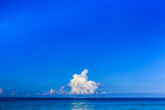 Big cloud over sea horizon Royalty Free Stock Photos