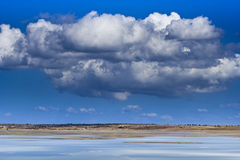 Big clouds. Island Gokceada.Oort clouds of the horizon Royalty Free Stock Photography