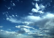 Big clouds and blue sky Stock Image