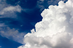 Big clouds in blue sky Royalty Free Stock Photography