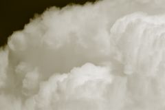 Big clouds. Royalty Free Stock Image