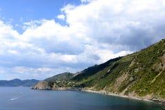 Big clouds in Cinque Terre, Italy Royalty Free Stock Photos