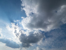 Big clouds cover the sun Royalty Free Stock Photo