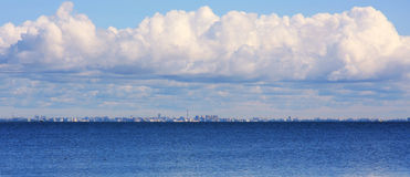 Big clouds over the Baltic sea Stock Images