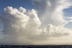 Big Clouds over the Manukau Harbour Royalty Free Stock Photos