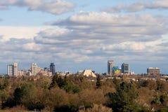 Big clouds over Sacramento Royalty Free Stock Photos