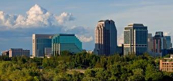 Big clouds over Sacramento stock photos